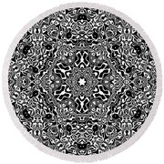 Black And White Mandala 34 Round Beach Towel by Robert Thalmeier