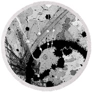 Black And White Three Round Beach Towel