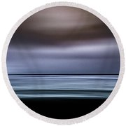 Black Beach Water Round Beach Towel