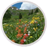 Black Bear Pass Landscape Round Beach Towel