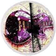 Black Beauty C 2  Round Beach Towel