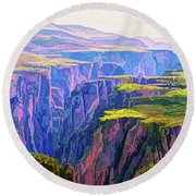 Black Canyon Colorado Round Beach Towel
