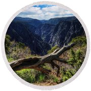 Black Canyon Of The Gunnison First Look Round Beach Towel
