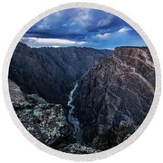 Black Canyon Of The Gunnison National Park Round Beach Towel