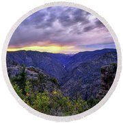 Black Canyon Sunset Round Beach Towel