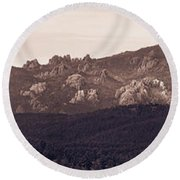 Black Elk Peak Round Beach Towel