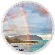 Black Friday Rainbow Round Beach Towel