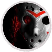 Black Friday The 13th  Round Beach Towel