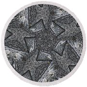 Black Granite Kaleido #4 Round Beach Towel by Peter J Sucy