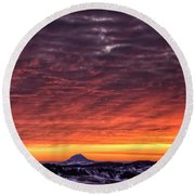 Round Beach Towel featuring the photograph Black Hills Sunrise by Fiskr Larsen