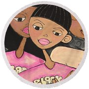 Black History Month Round Beach Towel