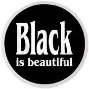 Black Is Beautiful Design Round Beach Towel