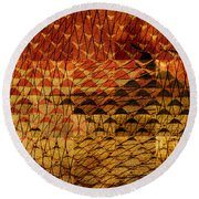 Black Mountain Round Beach Towel