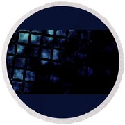 Black N Blue Burn Round Beach Towel