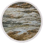 Round Beach Towel featuring the photograph Black Obsidian Sand And Other Textures by Sue Smith