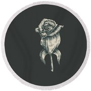 Round Beach Towel featuring the digital art Black On Black by ReInVintaged