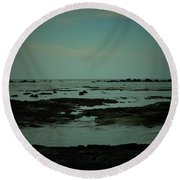 Black Rock Beach Round Beach Towel