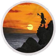 Black Rock Maui Round Beach Towel