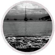 Black Sails Round Beach Towel