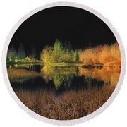 Black Sky Round Beach Towel