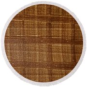Round Beach Towel featuring the photograph Black Walnut Ink Drawing by Tom Janca