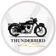 Blackbird 1950 Round Beach Towel
