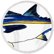 Blackfin Tuna Fishing Fish Round Beach Towel