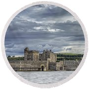 Blackness Castle Round Beach Towel
