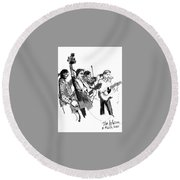 Blacksmith II Round Beach Towel