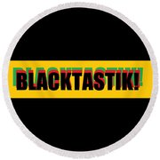 Blacktastik Round Beach Towel