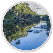 Blackwood River Rocks, Bridgetown, Western Australia Round Beach Towel