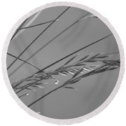 Blades Of Gray Round Beach Towel