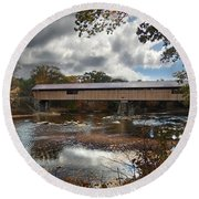 Blair Covered Bridge Round Beach Towel