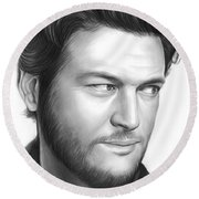 Blake Shelton Round Beach Towel