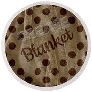 Blanket Round Beach Towel by La Reve Design