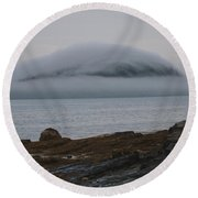 Round Beach Towel featuring the photograph Blanket Of Fog by Living Color Photography Lorraine Lynch
