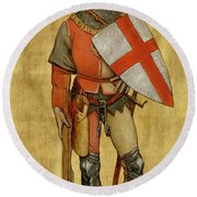 Blanket Of The Armed Saint George Guild Round Beach Towel