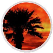 Blaze Round Beach Towel by Elaine Malott