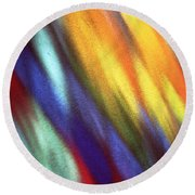 Round Beach Towel featuring the photograph Blaze II by Kenneth Campbell