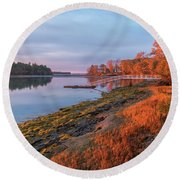 Blazing Shore Round Beach Towel