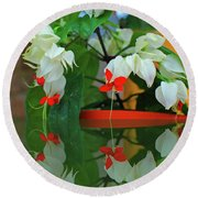 Bleeding Heart I Round Beach Towel