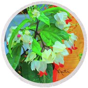 Bleeding Heart II Round Beach Towel