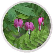 Bleeding Hearts 2 Round Beach Towel