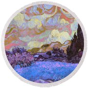 Blend 20 Van Gogh Round Beach Towel by David Bridburg