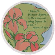 Blessed Is The Man Round Beach Towel