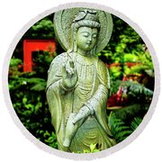 Blessings Of A Goddess Round Beach Towel