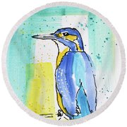 Bleu Round Beach Towel
