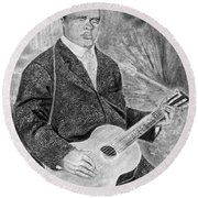 Blind Lemon Jefferson Round Beach Towel