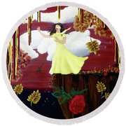Blinded By Love Round Beach Towel