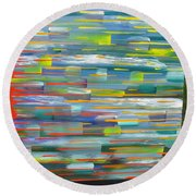 Blindsided Round Beach Towel by Jacqueline Athmann